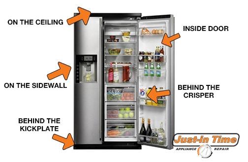 Refrigerator Model Number Locator