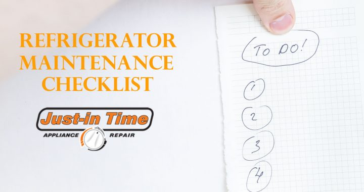 Refrigerator Maintenance Checklist