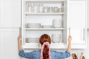 kitchen cabinets organization ideas