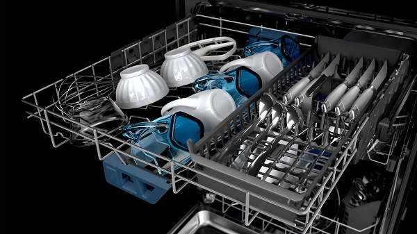 how to load silverware in a Maytag dishwasher